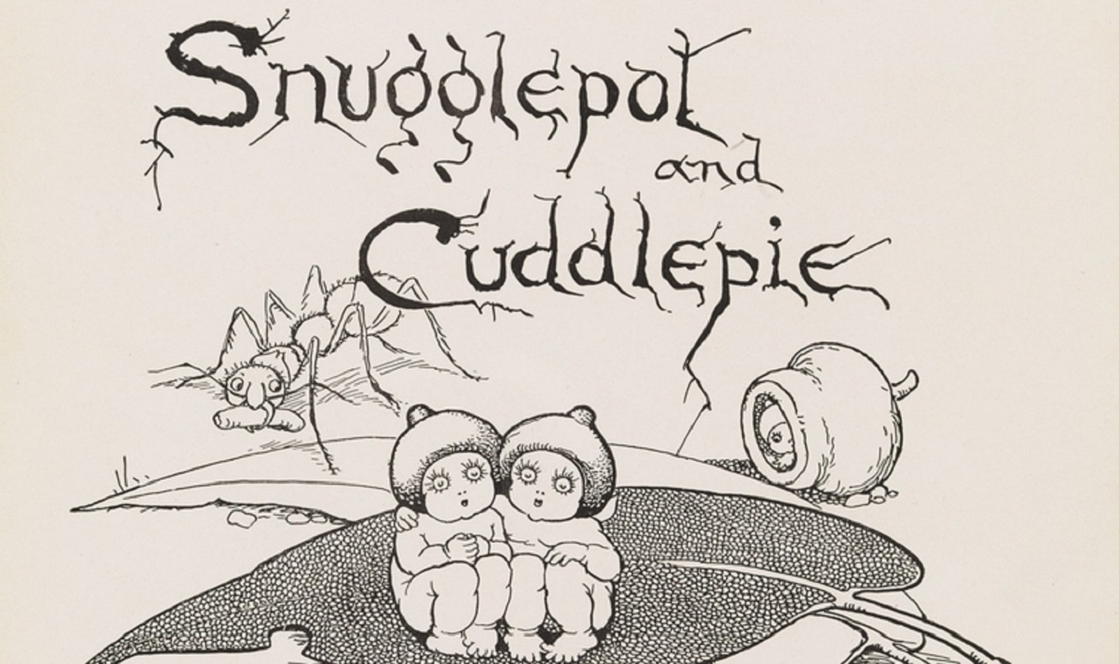 The frontispiece to May Gibbs' book, Snugglepot and Cuddlepie